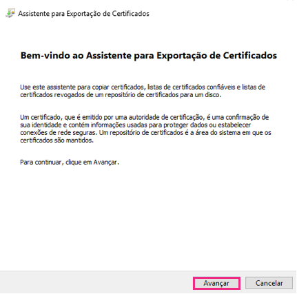 Exportar certificado