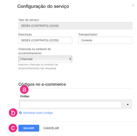 Configurações NuvemShop