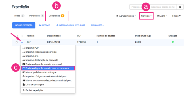 Configurações Fbits