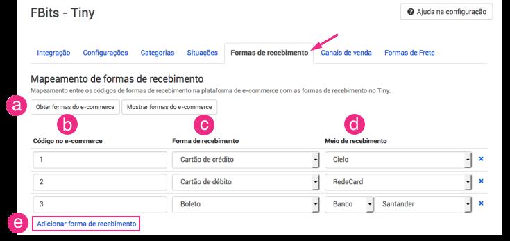 Configuração Fbits