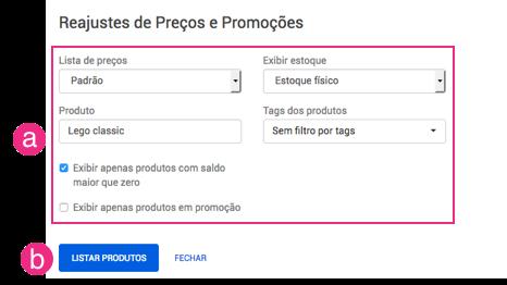 Configurações EzCommerce
