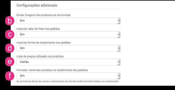 Configurações OpenCart