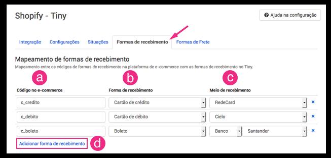 Configuração Shopify