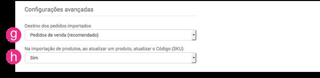 Configurações Loja Integrada
