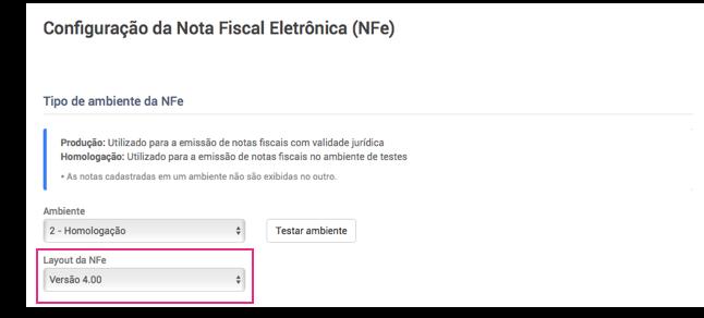 Configurar NFe