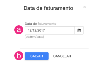 Alterar data faturamento